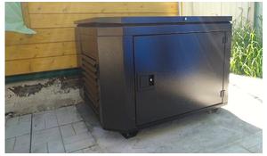 генератор в уличном кожухе